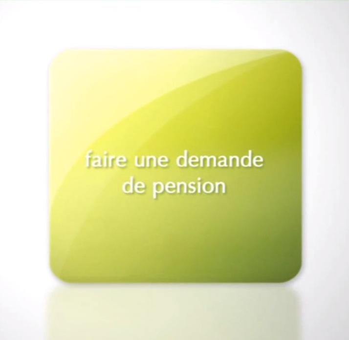 Faire une demande de pension